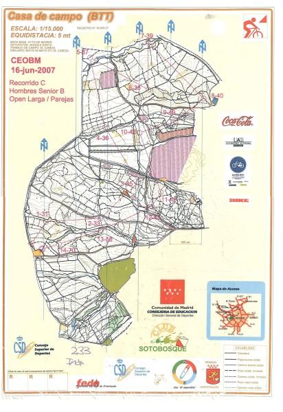 Mapa OBM casa de campo
