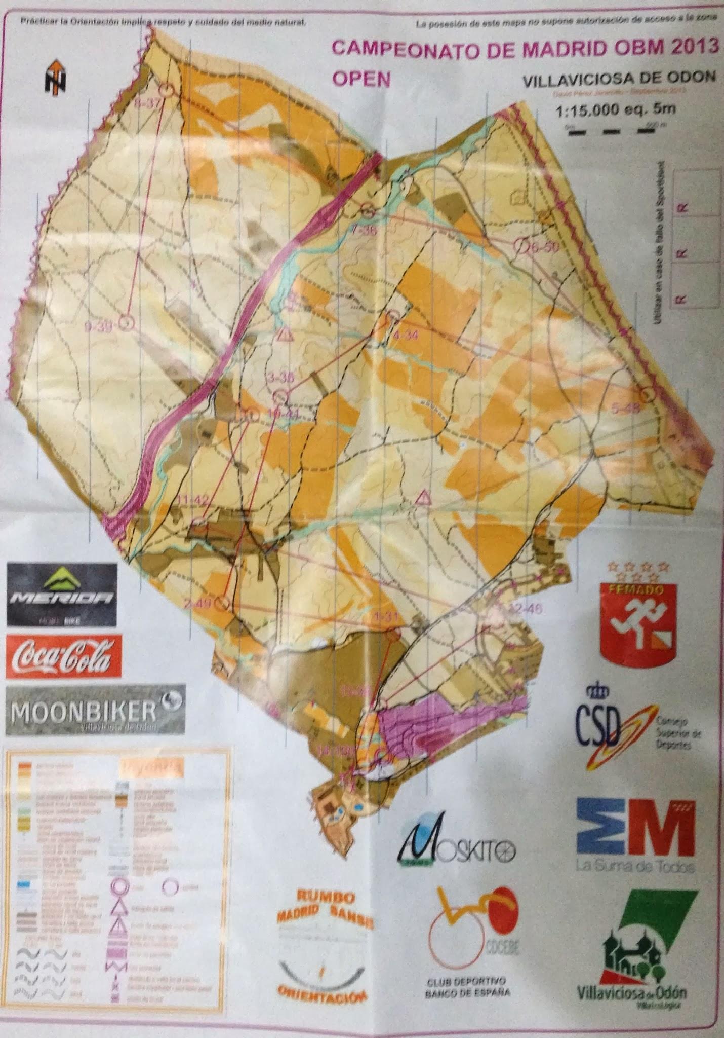 Mapa Villaviciosa De Odon.Villaviciosa De Odon Campeonato De Madrid De Obm 2013