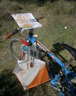Orientación en bicicleta de montaña