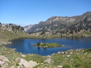 Vistas del lago de Clôto de Naut en Colomers